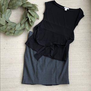 WHBM Ruffle Hem Pencil Skirt & Top Outfit Lot